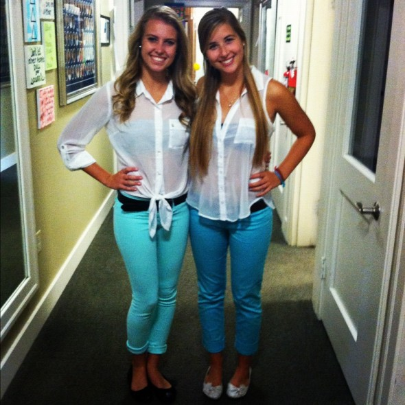 Knowing you're meant to be big and little when you accidentally match your outfits. TSM.