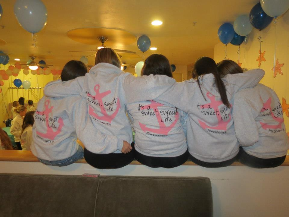 With my letters across my chest, I know my sisters will always have my back. TSM.