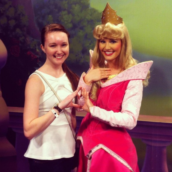Throwing what you know with a Disney princess. TSM.