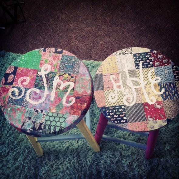 Matching big/little stools. TSM.