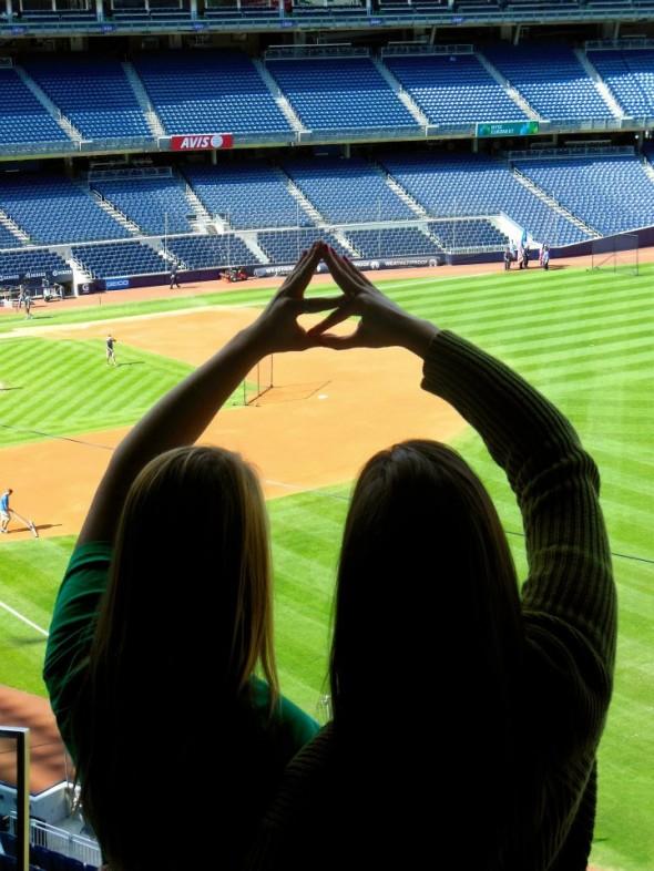DZ love at Yankee stadium. TSM.