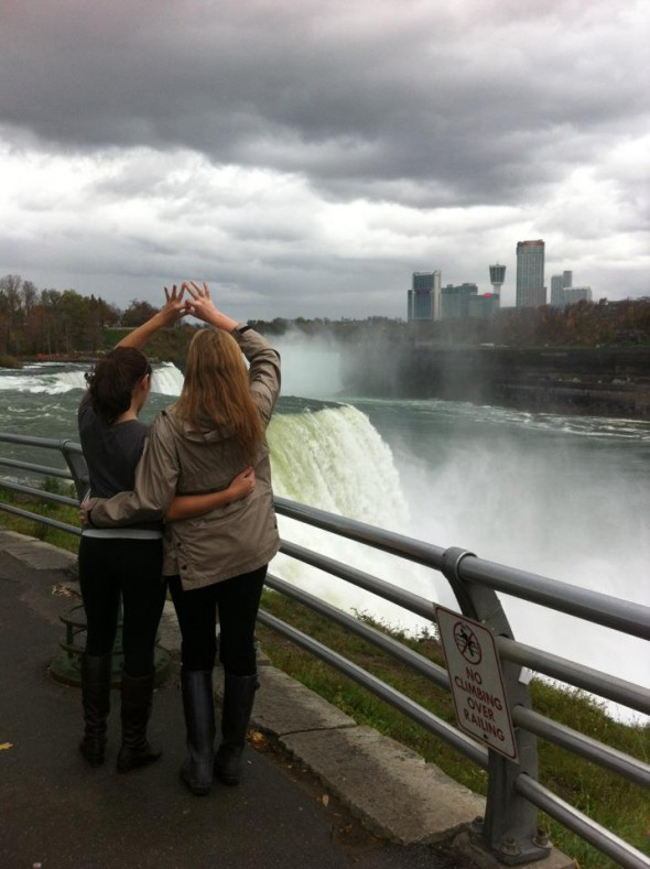 Throwing the crown at Niagara Falls. TSM.