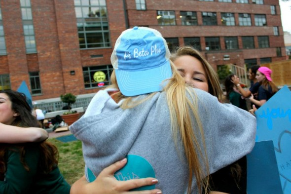 That first hug with your big when she rejoins the chapter after being a Pi Rho Chi. TSM.
