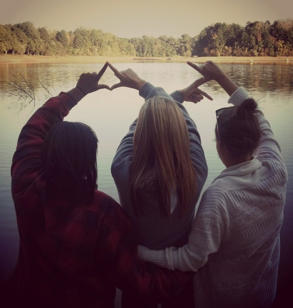 Enjoying the lake with sisters. TSM.