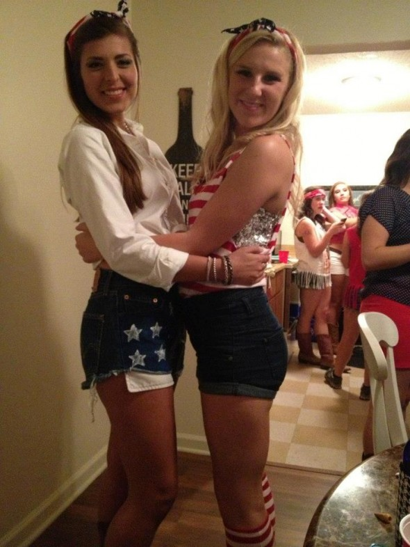 Red, white, and blue social with the little. TSM.
