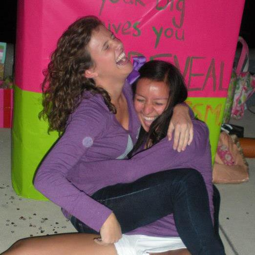 The amazing moment when your little tackles you to the ground at big-little reveal. TSM.