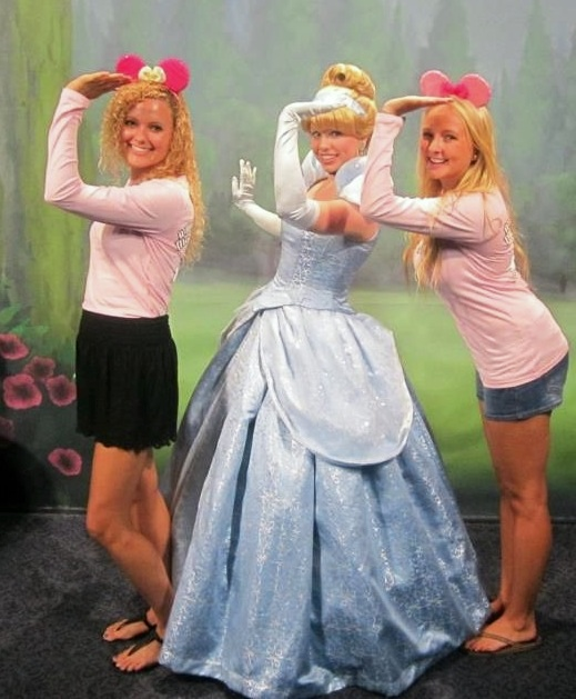 Cinderella throwing what she knows. TSM.