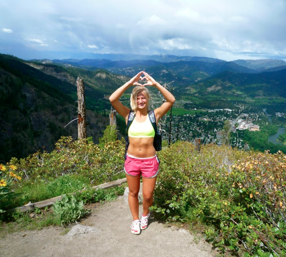 Throwing what I know with my town in the background after a hike. TSM.