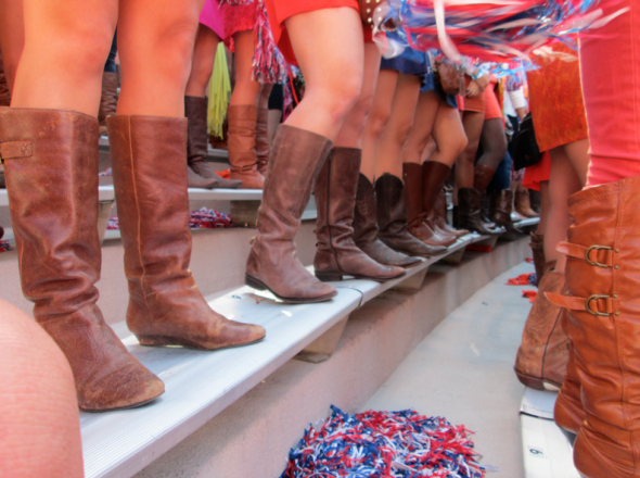 Boots and sundresses? It's gameday. TSM.
