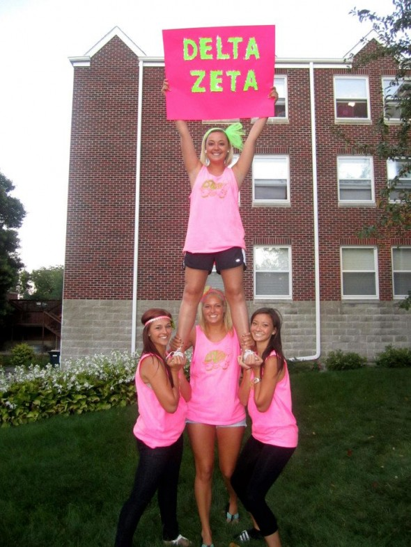 Stunting on bid day for Delta Zee. TSM.