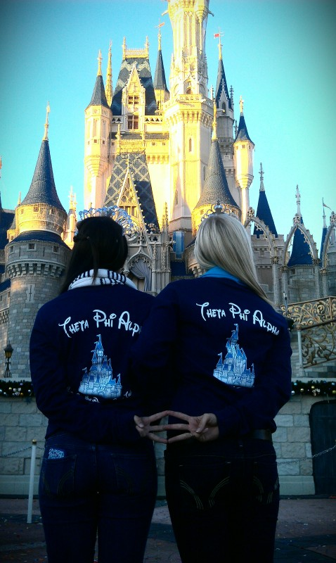Big/Little princesses throwing what they know in front of Cinderella's castle. TSM.