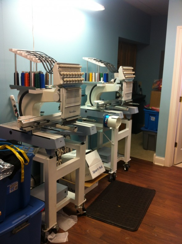 Having not one, but two embroidery machines for all your monogramming needs. TSM.
