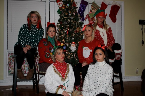 Roomie Christmas card. Merry Christmas, ya filthy animals. TSM.