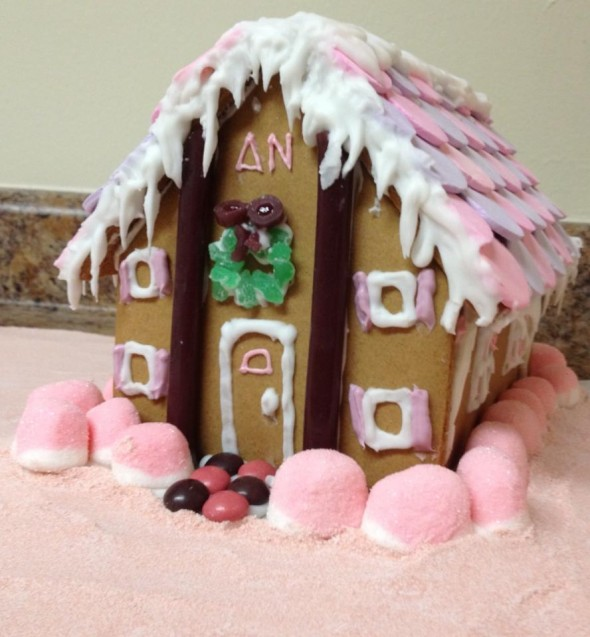 What happens when a ΣK and an AOΠ make a gingerbread house? ΔN sorority house. TSM.