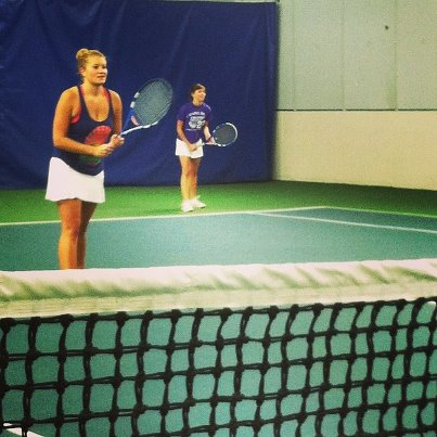Discovering you and your little are perfect doubles partners. TSM.