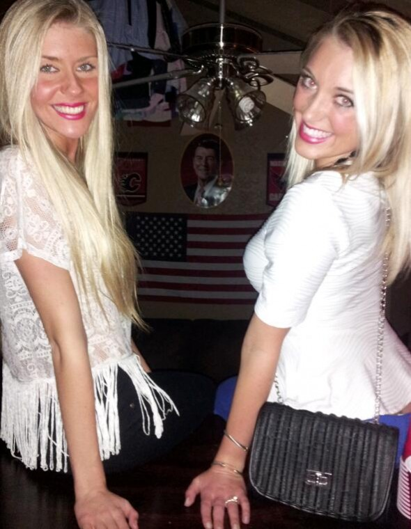 Red, white, and blonde. TSM.