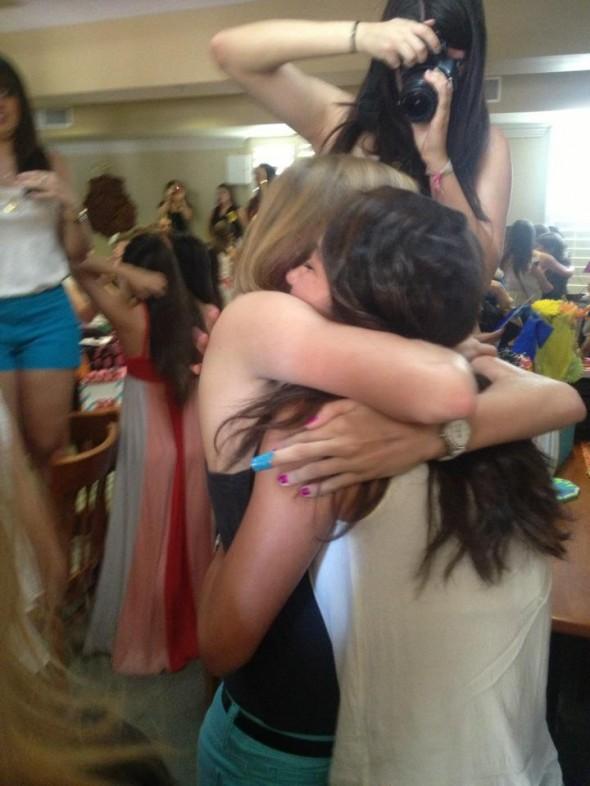 The big-little reveal hug. TSM.
