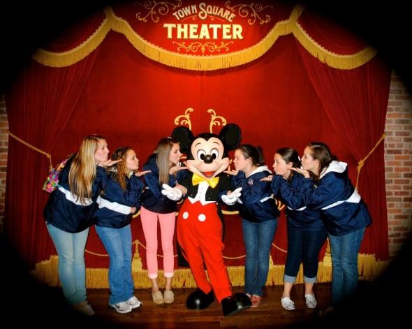 Sigma Kappa's blowing Mickey a kiss! TSM.