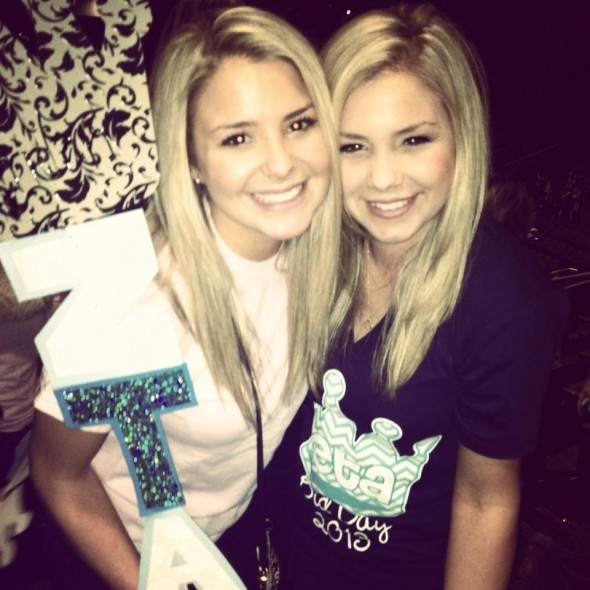 Biological sisters becoming sorority sisters. TSM.