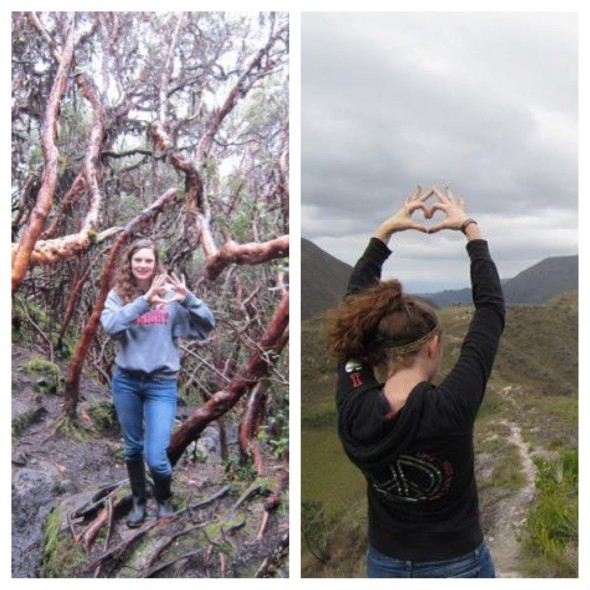 Hiking the Andes in Ecuador over winter break and still living one heart one way. TSM.