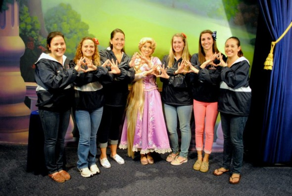 Rapunzel throwing what she knows! TSM.