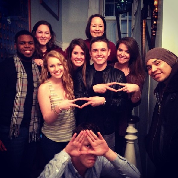 Plugging it with Jesse McCartney in the Pi Palace. TSM.
