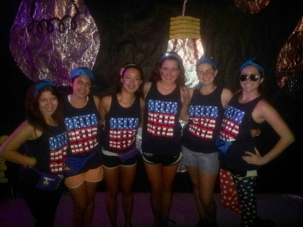 Standing up against pediatric AIDS for 26 hours with your sisters and representing your country. TSM.