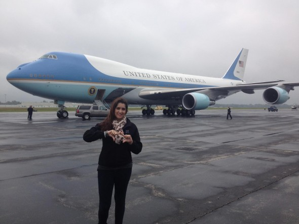 Throwing what you know in front of Air Force One. TSM.