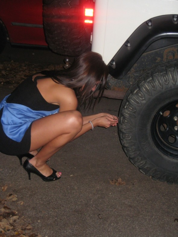 Stabbing a hole in his Jeep tire after he cheats on your pledge sister. TSM.
