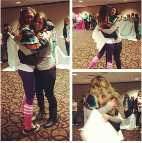 There's nothing better than the first official big and little hug. TSM.