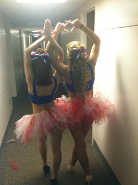 Panhellenic bestfriends in hand-crafted patriotic outfits. TSM.