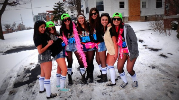 Not letting a little snow ruin bid day. TSM.