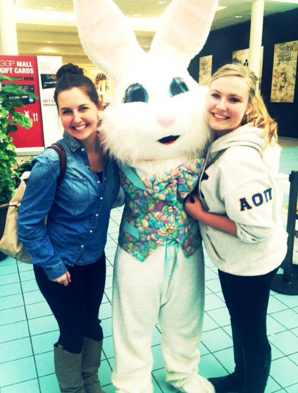 Alpha love with the Easter Bunny. TSM.