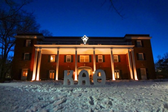 The snow looks so much better in our letters. TSM.