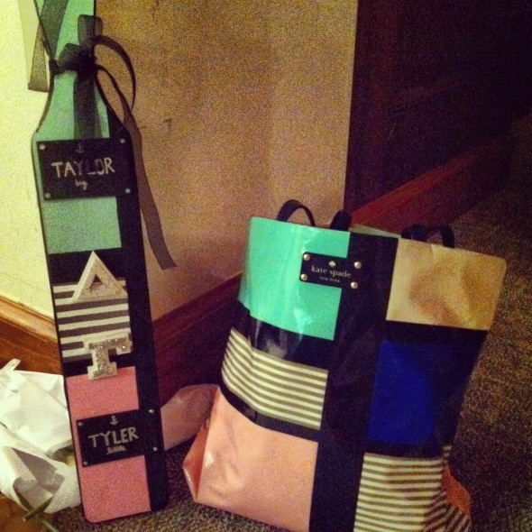 Your little crafting a paddle to match your favorite designer bag. TSM.