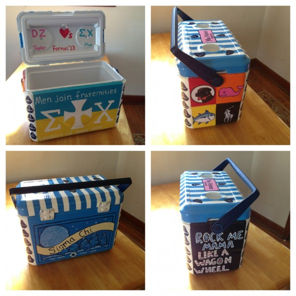 My perfect cooler for my perfect date! Delta Zeta and Sigma Chi. TSM.