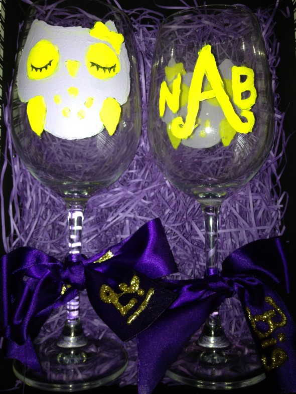 Big little wine glasses. TSM.