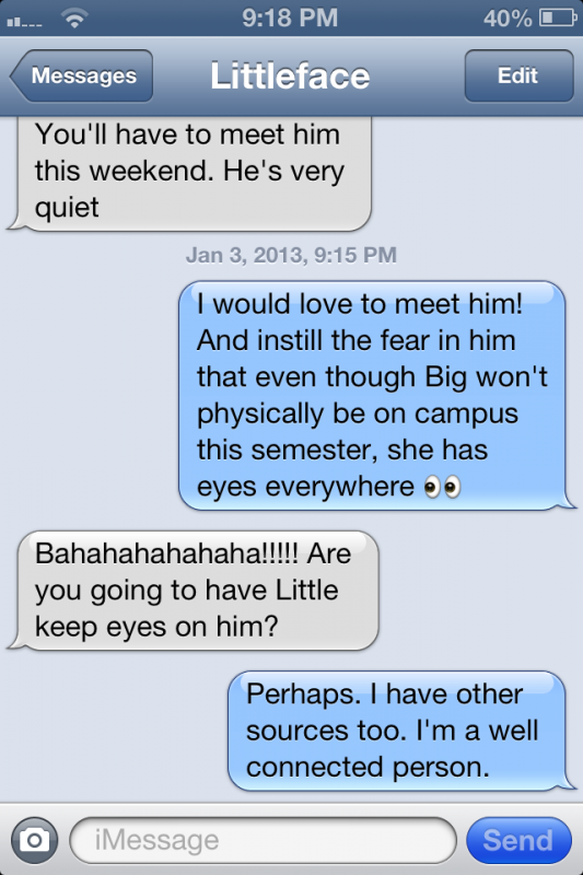 Keeping tabs on your little's new boyfriend even from over 4,000 miles away. TSM.