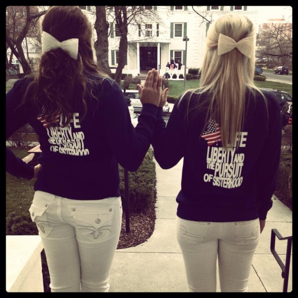 Life, liberty, and the pursuit of sisterhood. TSM.