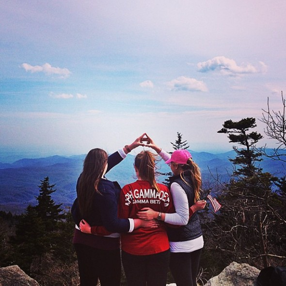 Throwing what you know on the top of Grandfather Mountain. TSM.