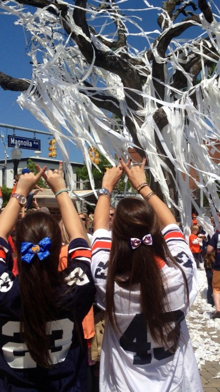 Throwing what you know for the last rolling of Toomer's Corner. TSM.