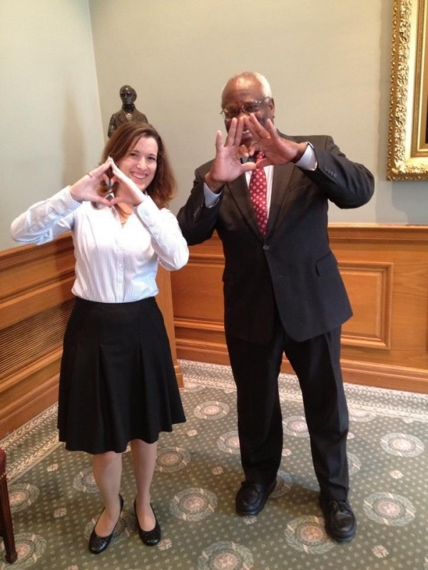 Throwing what you know with Supreme Court Justice Clarence Thomas. TSM.