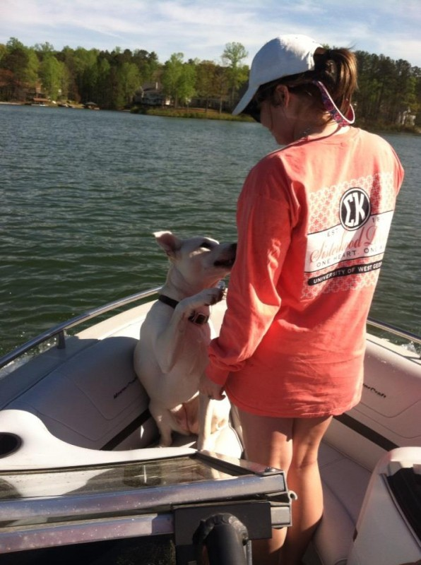 Puppy love on the lake. TSM.