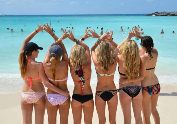 Bahamas with your sisters. TSM.