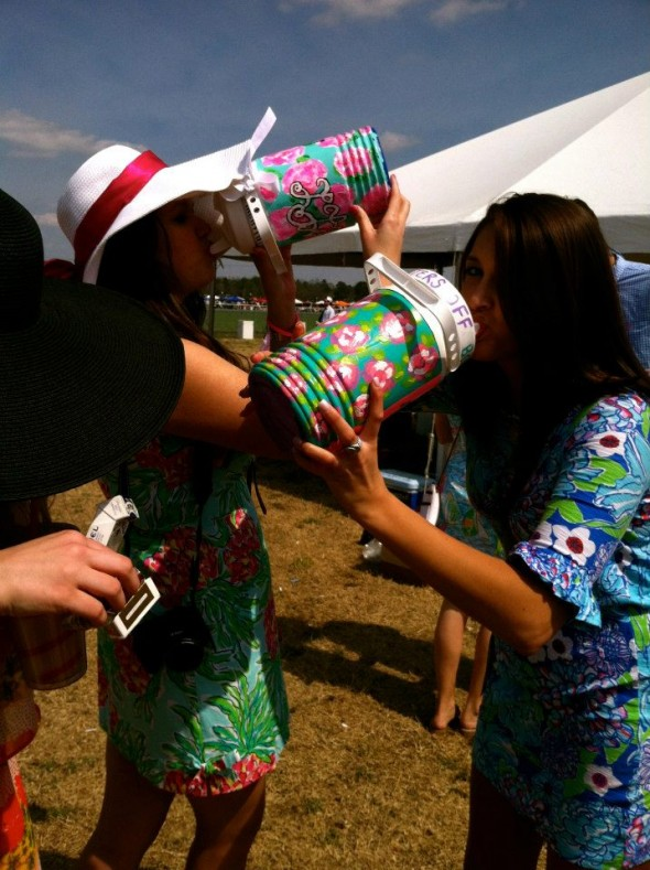 Chugging at Carolina Cup. TSM.