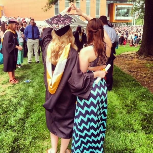 Throwing what you know at graduation. TSM.