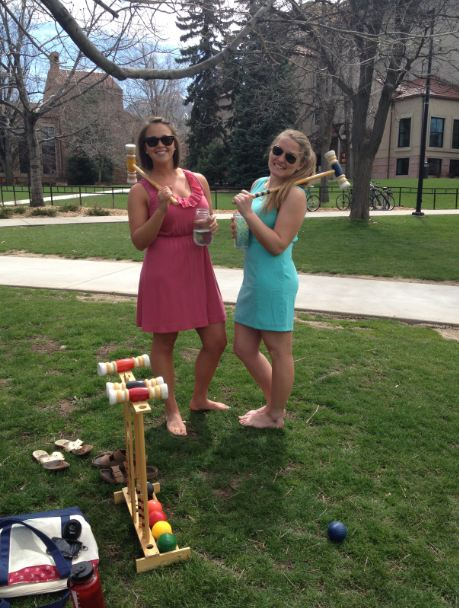 Croquet on the quad. TSM.