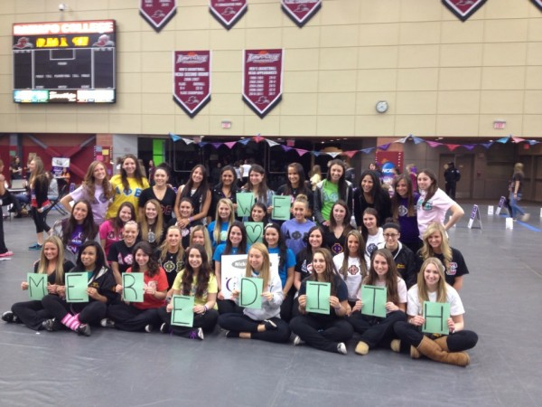 DPhiE showing support for one of our sisters with breast cancer at Relay for Life. TSM.