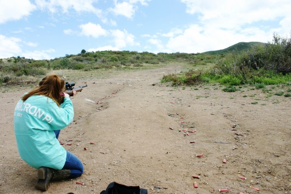 Shooting better than his girlfriend on your first time, and reppin' your sorority while doing it. TSM.