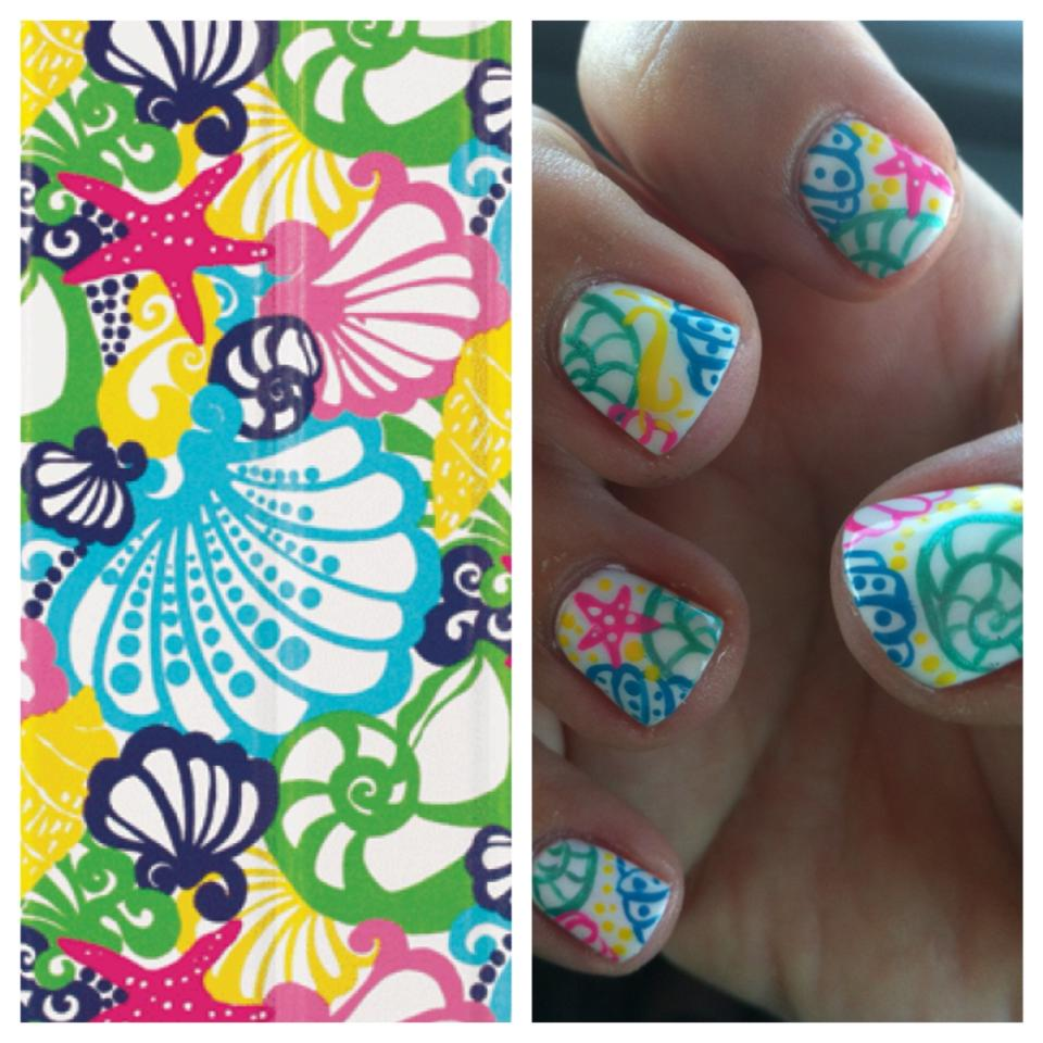 The perfect nails for a weeklong trip to the Caribbean. TSM.